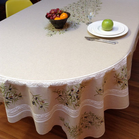 Claudine Linen Rectangular Or Oval Cotton Blend Provencal Tablecloth