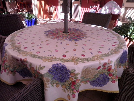 French Round Tablecloths And Square Cloths